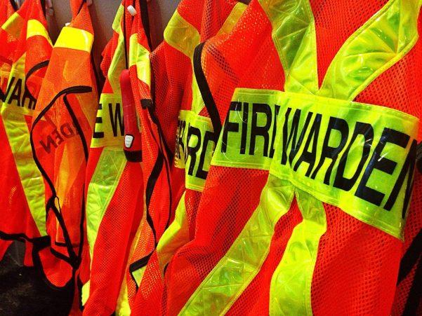 Fire warden high vis jackets