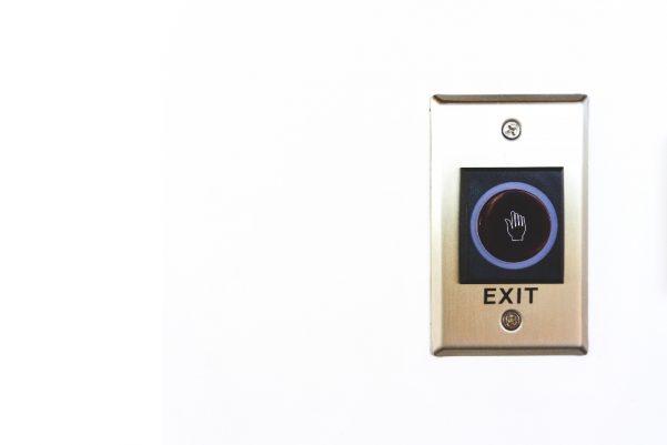 Automatic door release via hand sensor