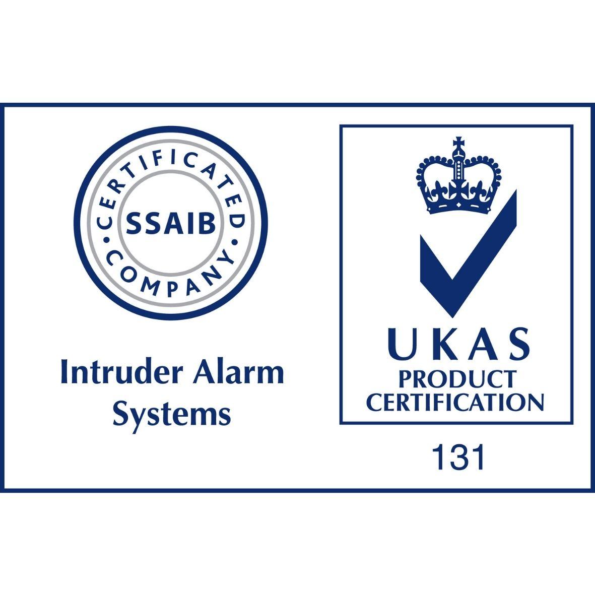 SSAIB Intruder Alarm with UKAS Accreditation Logo