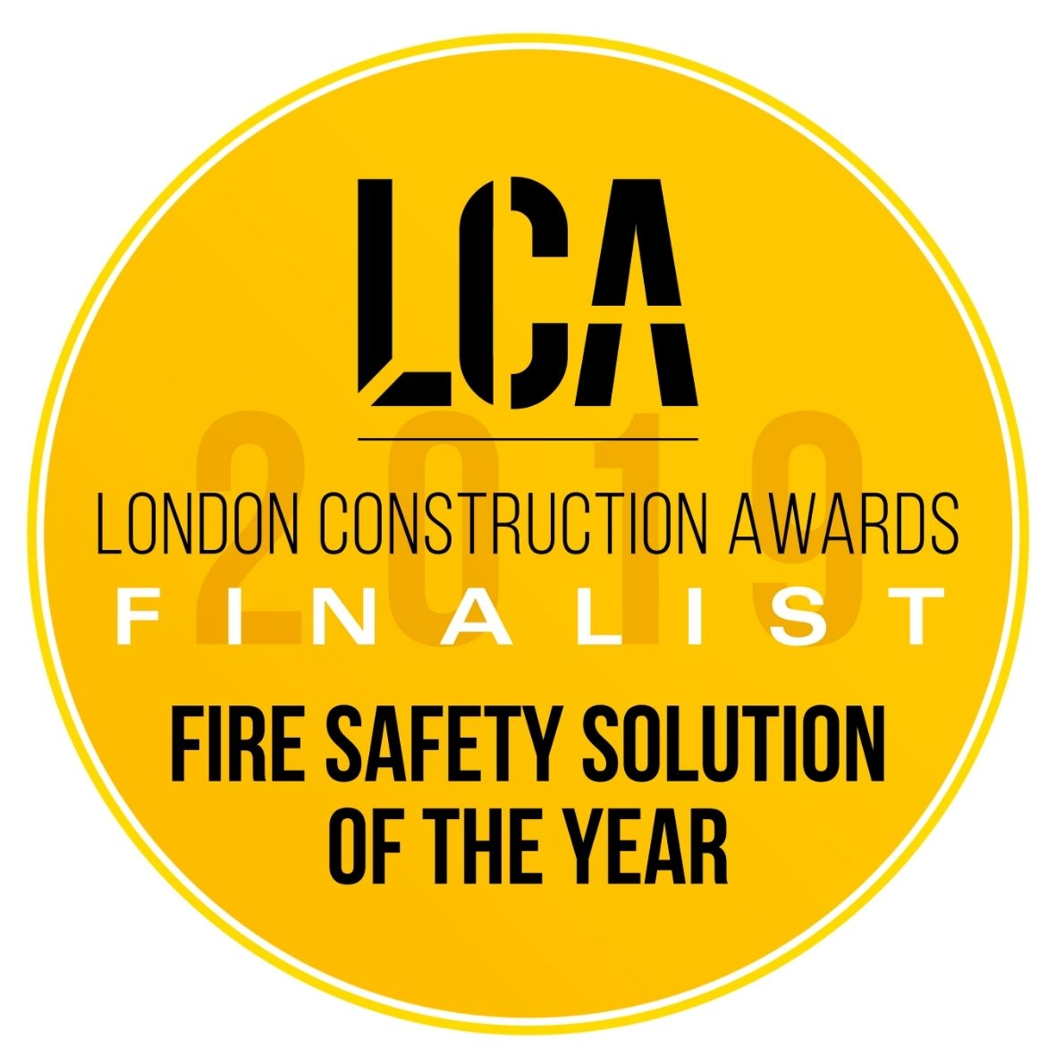 LCA Fire Safety Solution of the Year 2019 Finalist Logo